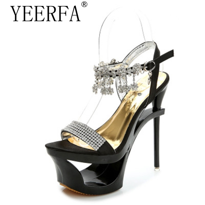 2018 Summer Crystal Sandals Women Rhinestone Slippers Wedges Slides Beach Sandals Sexy Open Toe Thin High Heels Gladiator Sandal high quantity medicine detection type blood and marrow test slides