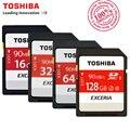 Toshiba sd tarjeta de memoria uhs-i 90mbs u3 128 gb 600x32 gb tarjeta sdhc SD 64 GB SDXC Tarjeta Flash 16G U1 Para Cámara RÉFLEX Digital Videocámara DV