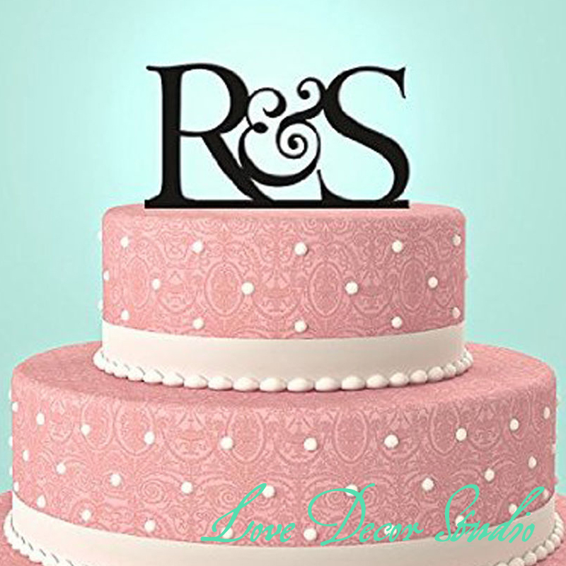 Custom Wedding Cake Topper Initial Monogram Letter For Anniversary Size6 3mm Thickchina