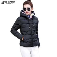 Parkas inverno Mulheres jaqueta curta de algodão acolchoado Jaqueta de 2017 senhoras da forma casaco plus size Mulheres outerwear fêmea Magro jaqueta de inverno 5L75