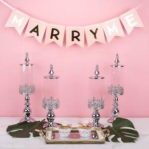 Image 3 - Azucarero, mesa de postres de boda, decoración, azucarero, tarro de cristal para dulces, bizcocho tentempié, depósito de almacenamiento