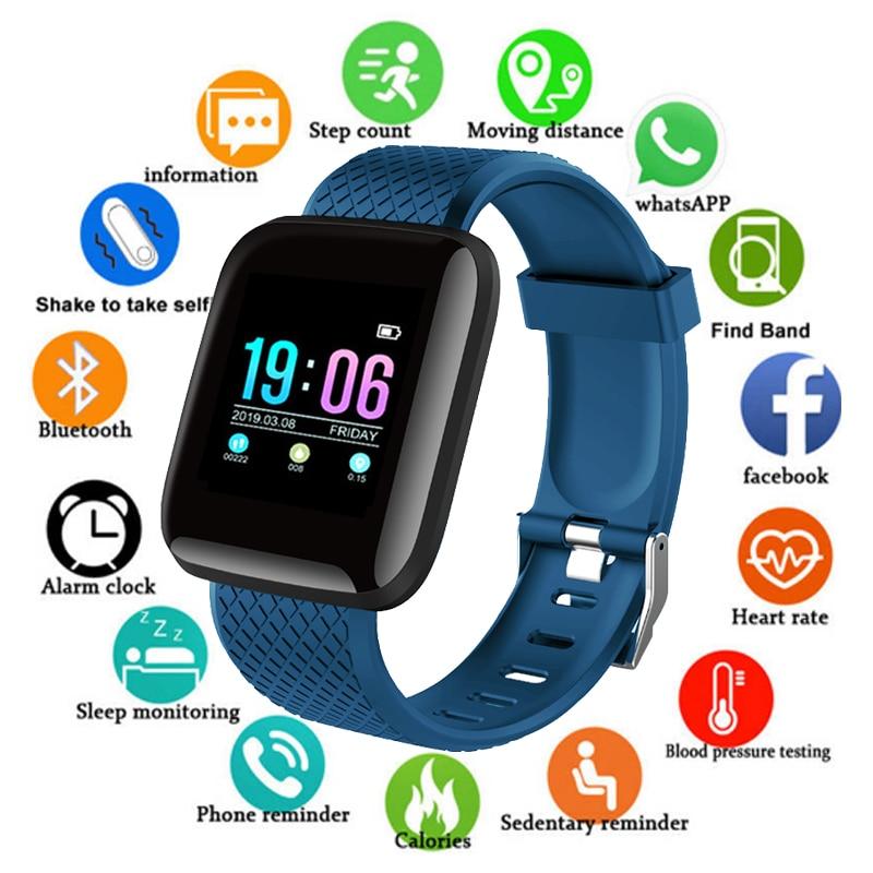 D13 Relógio Inteligente Homens \ Mulheres Pressão Arterial Monitor de Freqüência Cardíaca de Fitness Rastreador Smartwatch Relógio Do Esporte Relógio Inteligente Para IOS android