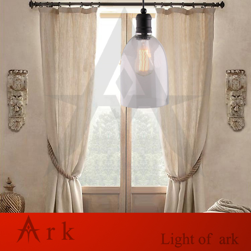 ark light free shipping Vintage outdoor clear glass bell pendant light american glass lamps coffee house tea room dining room ark light free shipping hot selling 1pcs beer bottle glass pendant lamp glass stone colorful pendant light dining room tea room