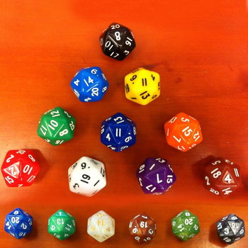 Clearance 5Pcs/set 20 Faces Polyhedral Dice Digital TRPG Dice Life Counter Running Indicator Group — stackexchange