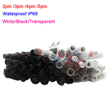 купить Wholesale 5~50 pairs Male to Female 2pin 3pin 4pin 5pin led Connector Waterproof IP68 Cable for LED Strips Light дешево