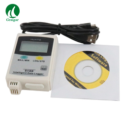Wysokiej temperatury rejestrator danych dotyczących wilgotności S100 TH z rejestrator danych USB Thermo higrometr rejestrator danych|Termometry|Narzędzia -