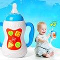 0-3 Лет Baby Toys Бутылку Из-Под Молока Со Звуком И Светом Educational Toys Musical Бутылочки Рождественский Подарок Для Новорожденного младенцев