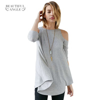 Fashion T Shirt Women 2017 Sexy Off Shoulder Casual Tops Long Sleeve Plus Size Xxl Autumn