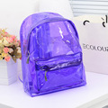 Mochila Transparente 2017 New Transparent Clear Plastic Backpack Candy Color Women Jelly Bag Beach Bolsa Transparente Praia
