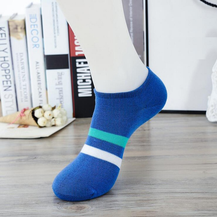 ankle socks strip casual Polyester cotton elastic short ship Breathable for summer spring men man male boy Wh