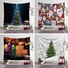 XMAS Art Wall Hanging Tapestry Ornamentation Santa Deer Christmas Festival Decoration Blanket Table Cloth Mat Mandala Home Decor