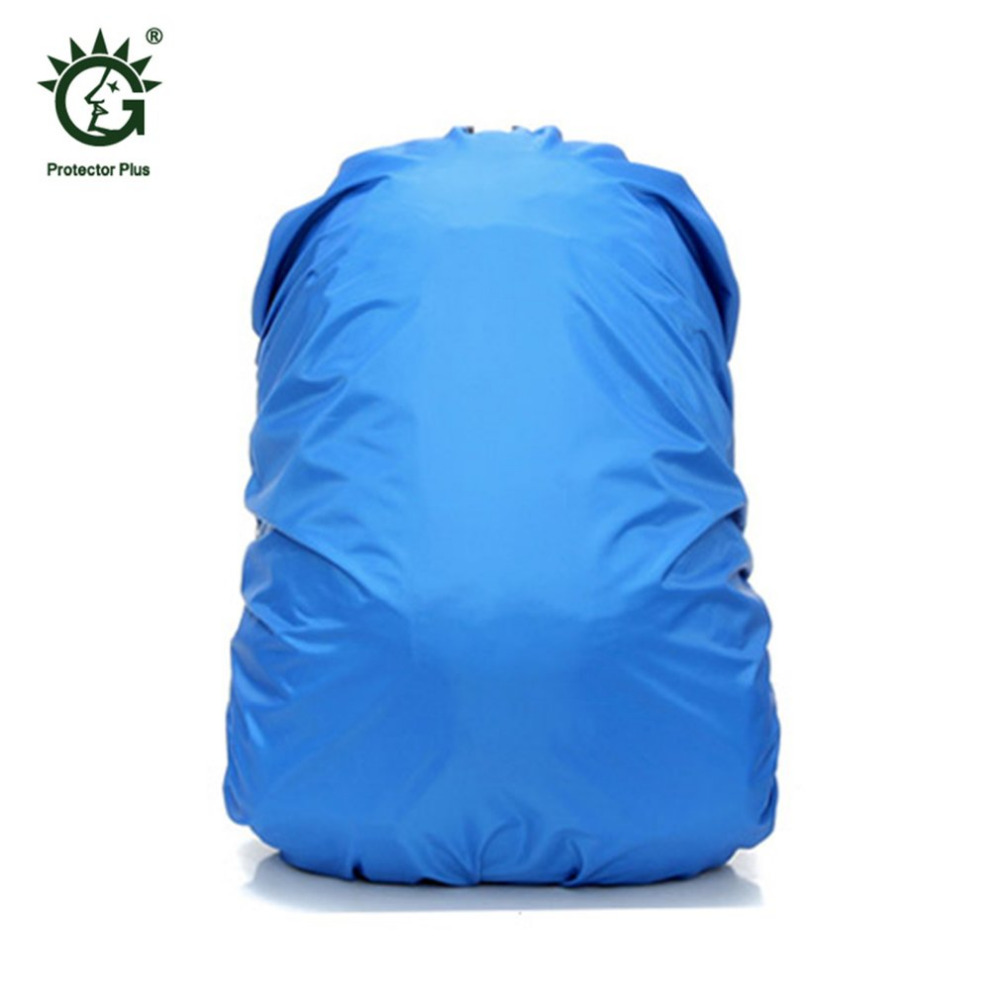 Solid Color Adjustable Waterproof Dustproof Backpack Rain Cover Portable Ultralight Shoulder Protect Cover For Outdoor Hiking