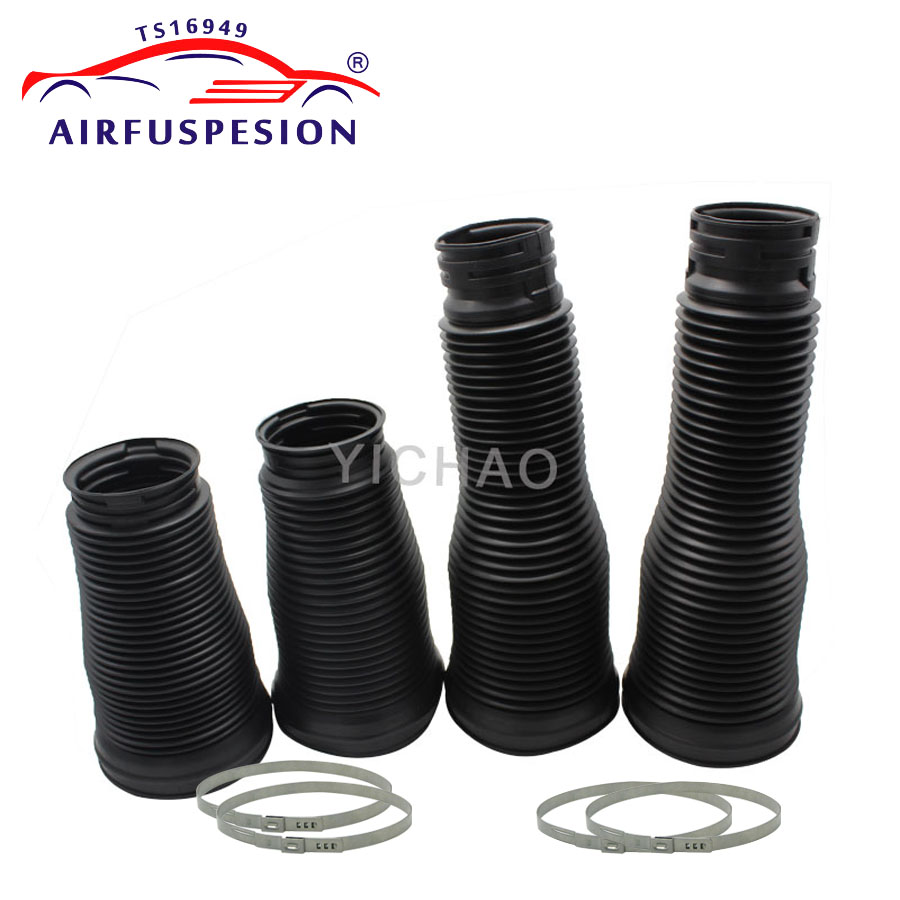 4pcs for Mercedes W221 front rear Dust Cover Boot Steel Rings Air Suspension clamps 2213204913 2213209313