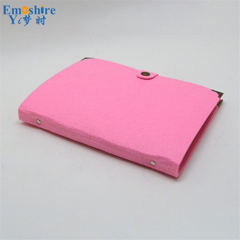 Custom Felt Loose-leaf Notebook A4 Stationery Notebook Kraft Paper Notepad for Students Large Writing Journal Felt Notebook N098