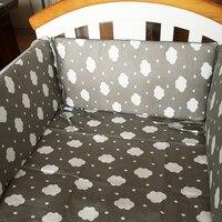 30 60 CM Cotton Printing Baby Bed Bumper Monolithic Removable Crib Anti Collision Bumper 1pcs