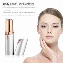 Women USB Rechargable Electric Painless Hair Removal Face Body Depilator Lipstick-shape Neck Leg Shaving Hair Remover for lady