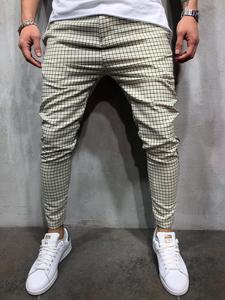 Image 2 - Newest Fashion Wear Take Cotton Blend Men Striped Long Casual Men Pants Slim Fit Skinny Urban Trousers Joggers Sweatpants