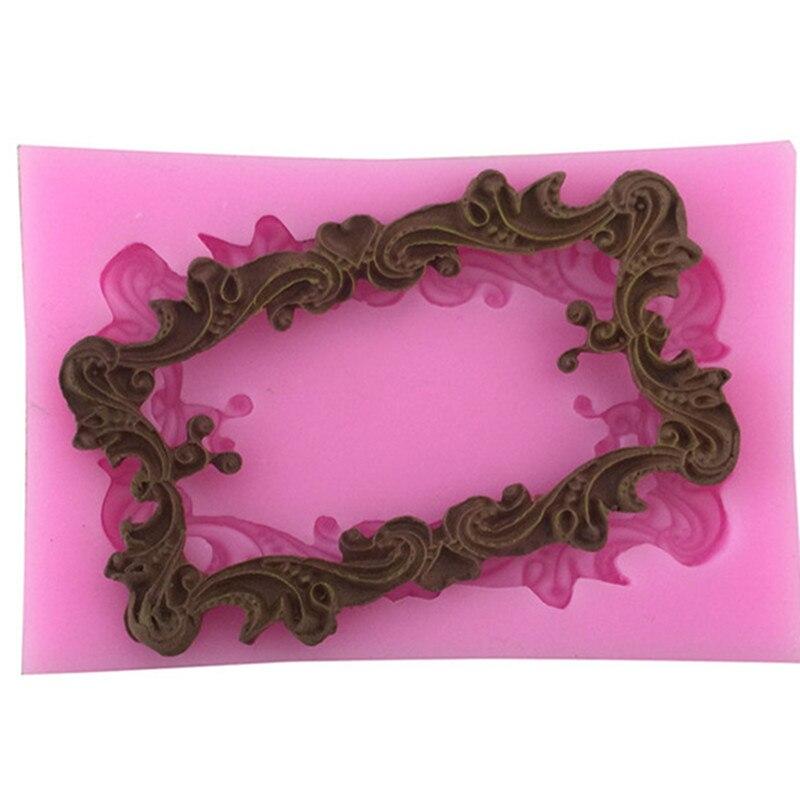 Clay Decorating Frame Shape Chocolate Fondant Cake Mold Silicone Baking Tools