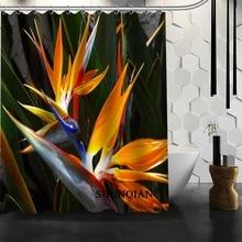 Best Nice Custom Bird Of Paradise Flower Shower Curtain Bath Waterproof Fabric Bathroom MORE