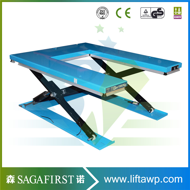 U Shape Scissor Lift Table With Optional Remote Control Panel