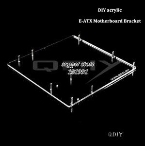 DEBROGLIE 1 шт. E-ATX кронштейн материнской платы DIY прозрачная акриловая материнская плата EATX лоток для видеокарты для компьютера