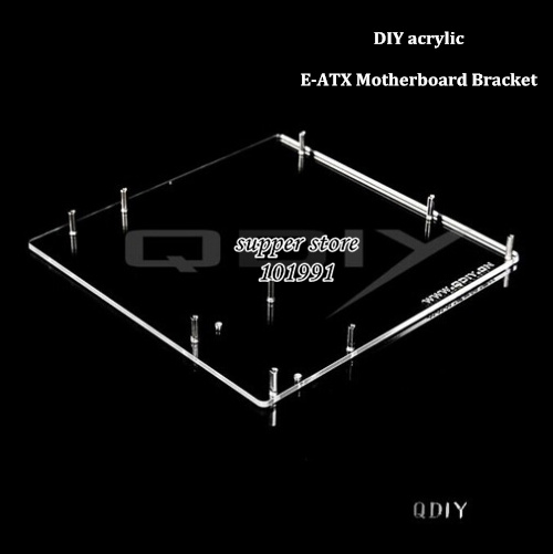 DEBROGLIE 1PCS E-ATX Motherboard bracket DIY Transparent acrylic eatx Motherboard Graphics video Card Tray for Computer vg 86m06 006 gpu for acer aspire 6530g notebook pc graphics card ati hd3650 video card