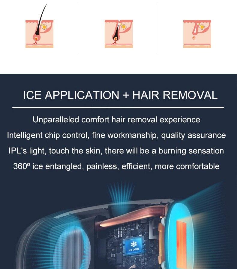 ipl máquina depiladora gelo frio 350000 flashes