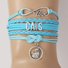 Amazing CATS LOVE bracelet / 5 Colors