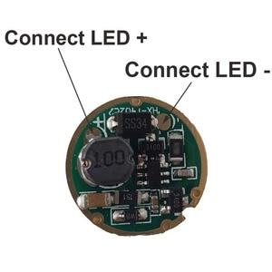 Image 4 - 10 قطعة مصباح يدوي led سائق 17 مللي متر XM L/XM L2 1 وضع 3 فولت 18 فولت لوحة دوائر كهربائية DIY بها بنفسك مضيا الشعلة أجزاء الإكسسوارات