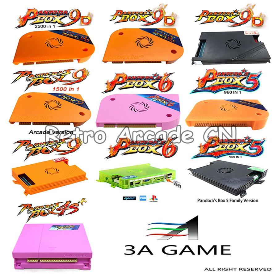 Original Pandora's Box Series Arcade Game Motherboard PCB 4S+/ 5 / 6 / 9 / 9D, Arcade Version And Family Version, Pandora Box 9D