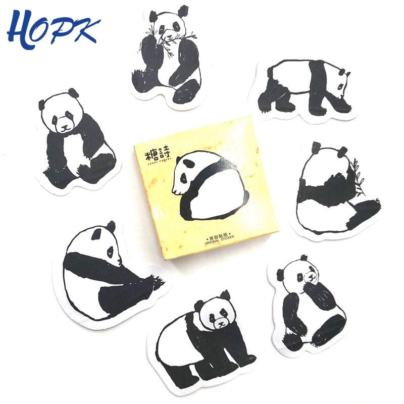 45 Pcs/Set Cute Panda Stickers Planner Scrapbooking Decoration Journal Sticker Diy Diary Label Stick Kawaii Stationery