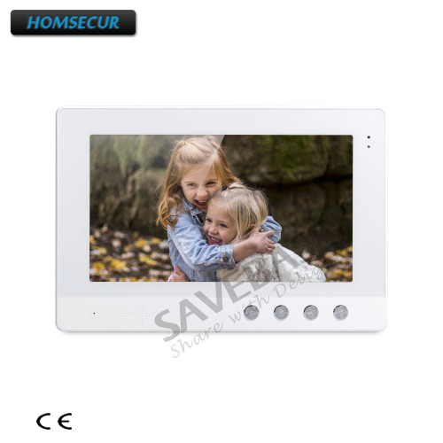 HOMSECUR Color Indoor Monitor 10.1  XM101-W for Video Door Phone Intercom System homsecur 4 3 color indoor monitor xm401 for video door phone intercom system