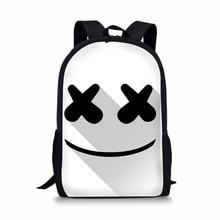 19738c597acc 16-дюймовый мешок школы Marshmello rugzak школьные сумки рюкзаки для  мальчиков и девочек школьные принадлежности