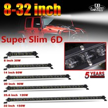 CO LIGHT 6D Led Light Bar 8 14 20 25.6 32 inch Offroad Combo for Tractor Truck Boat 4WD 4x4 ATV Work 12V