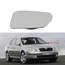 Левая сторона зеркала автомобиля Стекло для Skoda Octavia MK2 A5 2004 2005 2006 2007 2008 с подогревом Крыло зеркала Стекло