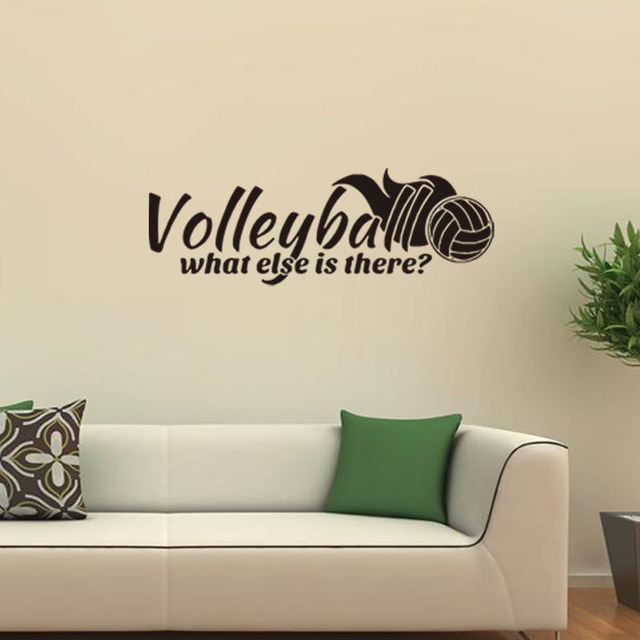 Sports Volleyball Vinyl Wall Decal Softball Lettering Word Collage - Wall stickers for bedrooms teens