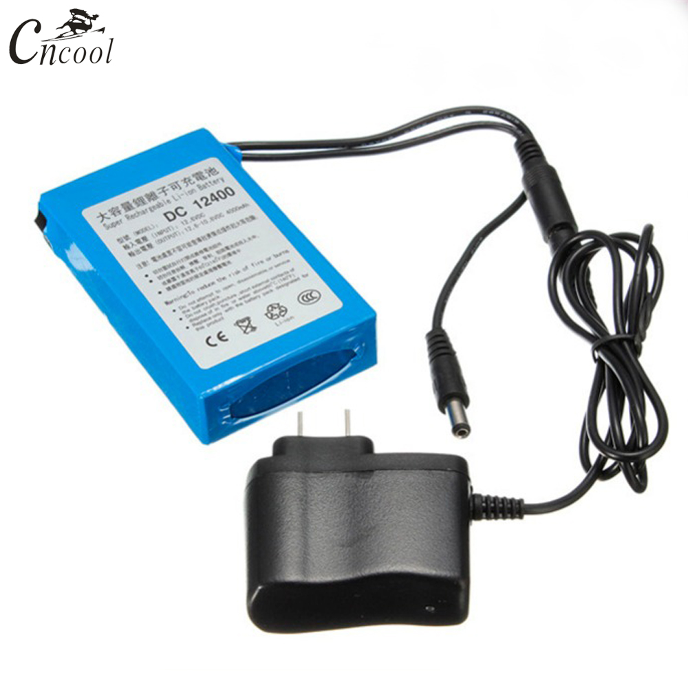 Cncool High Quality 12V 4000Mah Super Rechargeable Battery Portable Lithium-ion Batteria <font><b>DC</b></font> 12V DC129400 With Plug Accmulator image