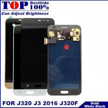 Замена ЖК-дисплея для samsung Galaxy J3 J320 J320F J320H ЖК-дисплей кодирующий преобразователь сенсорного экрана в сборе с регулировкой яркости