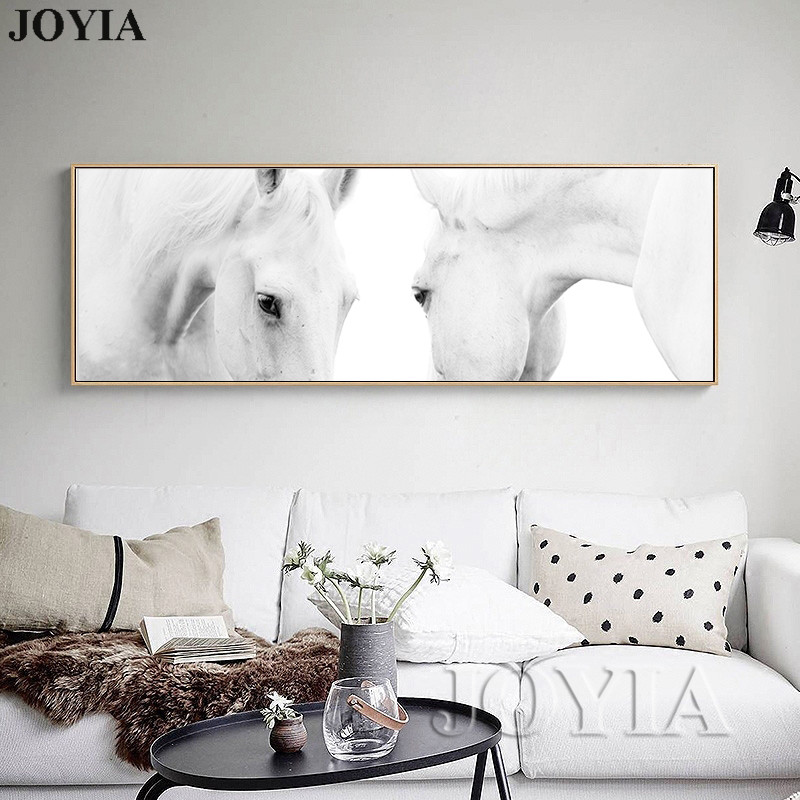 Aliexpress.com : Buy Large Size Horse Painting Abstract White Horses ...