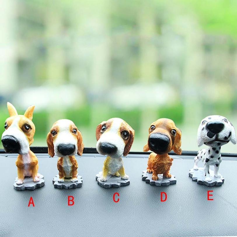 Animal Swinging Animated Bobble Dancer Toy Car Decor Nodding Resin Puppy Dog Janu 8