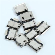 50 шт. 5 Булавки MK5P Micro USB гнездо Jack 5 P разъем 5-Булавки SMD Медь В виде ракушки данных порты и разъёмы MK5P