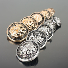 Shank England Style Buttons Metal Round Shapes DIY Handmade Sewing Clothes Coat Decorative Accessories 100 pcs/lot