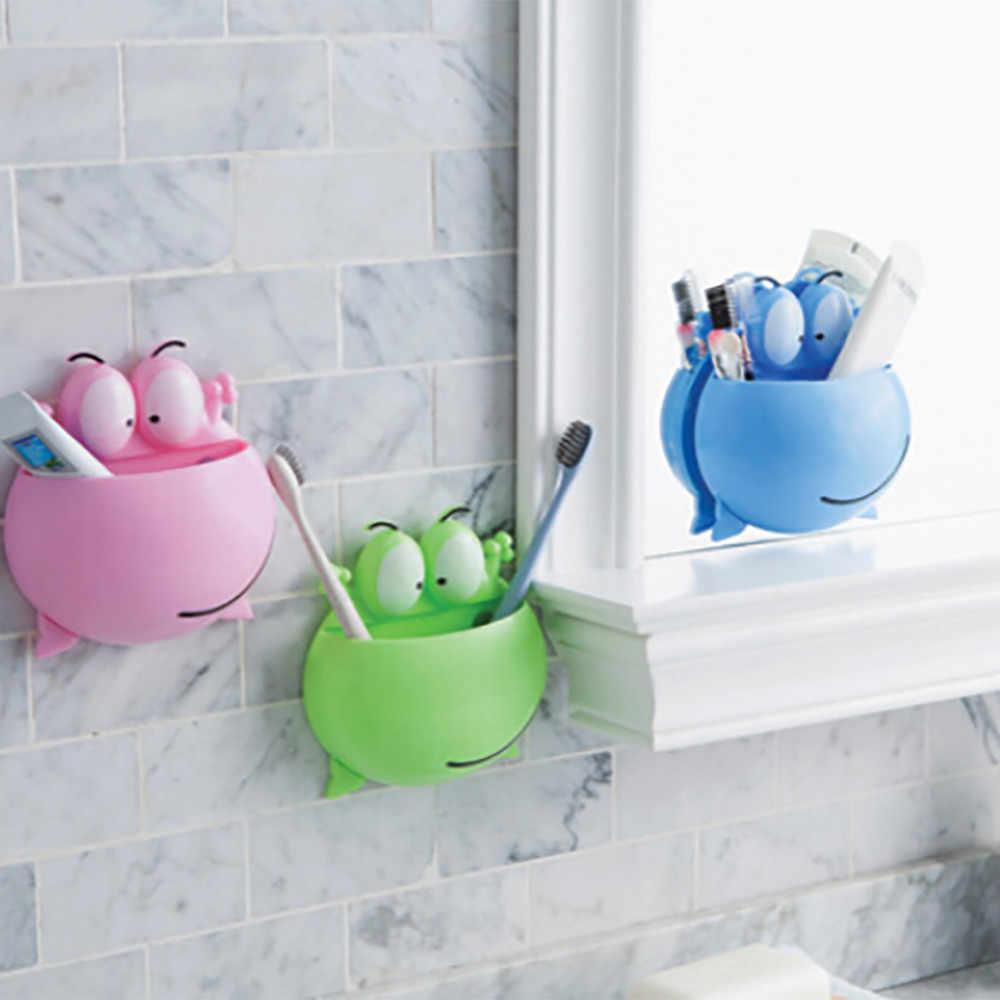 Bonito dos desenhos animados ventosa sabão escova de dentes chuveiro telefone pequena coisa caixa prato titular banheiro cozinha acessório caixa armazenamento 23may18