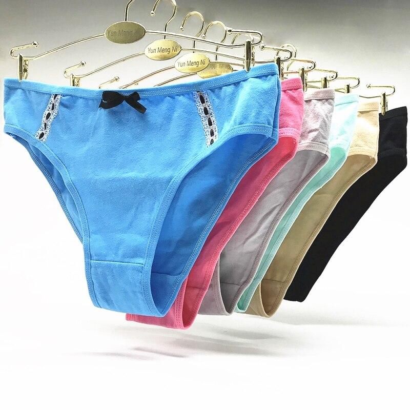 Women Panties Lace Sexy Lingerie Low Waist Cotton Women's Panties Underwear for Girls 5pcs/lot Underpants Female
