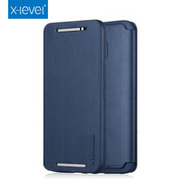 X Level Business Style PU Leather Flip Phone Case For HTC M9 Luxury Stand Case Cover