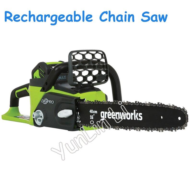 Scie à chaîne Rechargeable sans brosse batterie et chargeur scies à chaîne 40 V Lithium ménage électrique outil de coupe