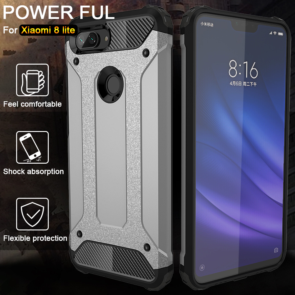 Luxury Armor Shockproof Case On The For Xiaomi Redmi 7 Note 6 7 Pro 5 Plus Soft Case Cover For Xiaomi Pocophone F1 Cover Coque in Fitted Cases from Cellphones Telecommunications