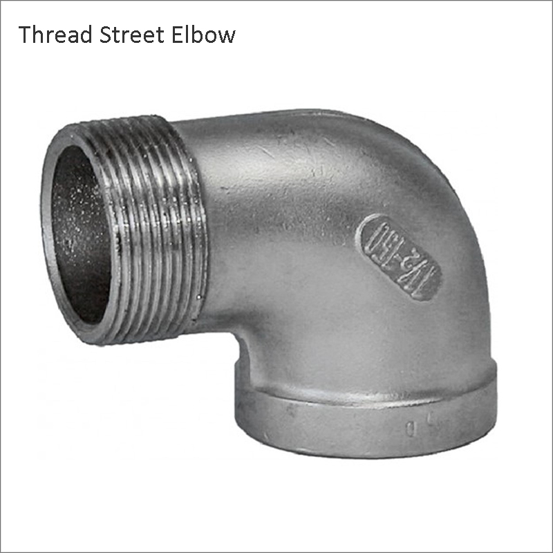 Street Elbow 90 Degree DN8 DN10 DN15 DN20 DN25 Stainless Steel SS304 Threaded Elbow Pipe Fitting