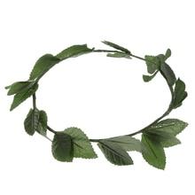 New Wedding Leaf Crown Head Band Women Weddings Green Leaves Wreath Bridesmaid Bridal Headpiece Female Headband