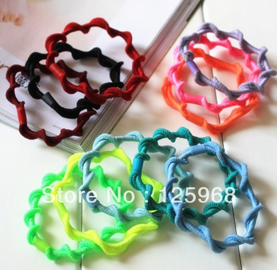 Free Shipping,2016 New  Wholesale Neon Color 11 Colors Hair Accessaries Hair Bands Elastic Hair Ropes Ties Ponytail Holder